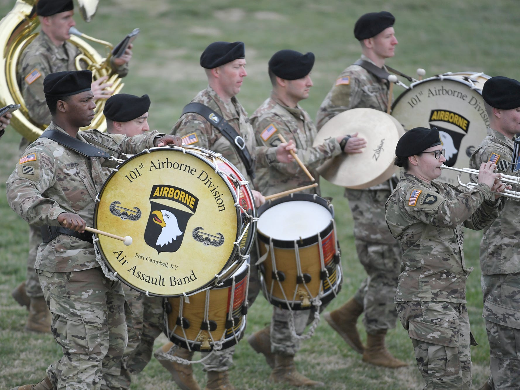 A 101st Airborne Division (Air Assault) and Fort Campbell Division Change of Command ceremony was held at  Fort Campbell, KY on Thursday, Feb. 14, 2019.