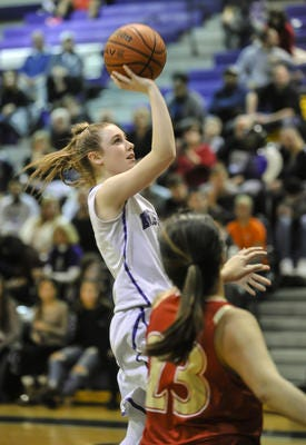 Rachel Kuhl helped lead Old Bridge to victory over Sayreville in the GMC Tournament first round on Wednesday, Feb. 13, 2019.