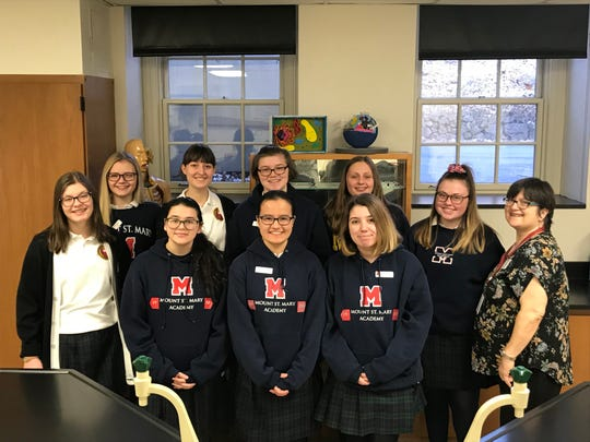 Mount Saint Mary Academy students qualify for Rutgers Oncology Olympiad.