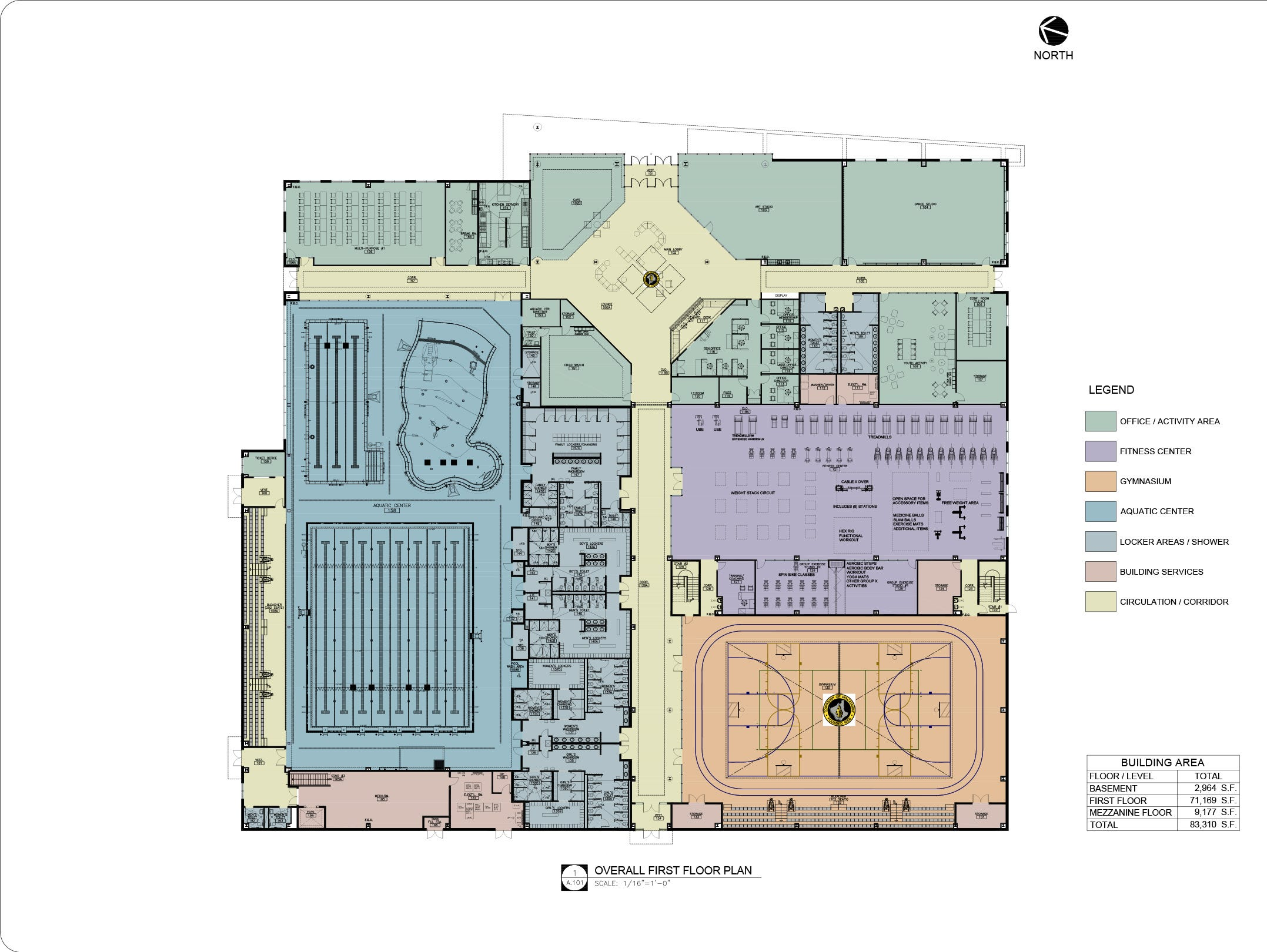 Architectural designs for Piscataway's forthcoming community center.
