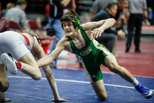 Iowa City West's Hunter Garvin finished second at the Class 3A state tournament last month. The freshman won a U16 national title this past weekend in Cedar Falls.