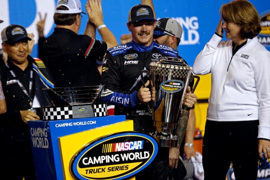 One of NASCAR's best stories across all series in 2018 was the rise of Brett Moffitt. The Grimes native went from jobless to a Trucks Series champion with a single-car team. He's back with a new team in 2019.