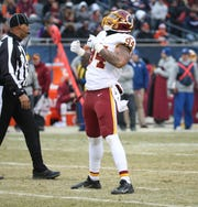 Washington Redskins linebacker Preston Smith celebrates a sack in Chicago at Soldier Field on Dec. 24, 2016.
