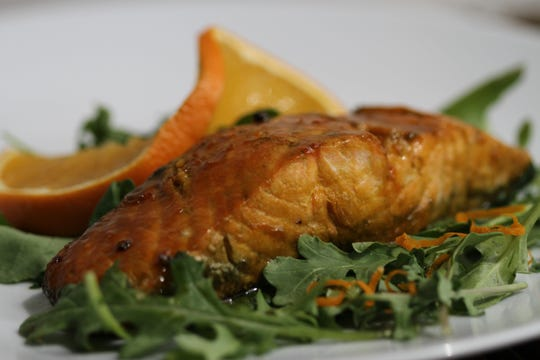 Orange Matcha Salmon. The American Heart Association recommends eating at least two servings of fish every week.l