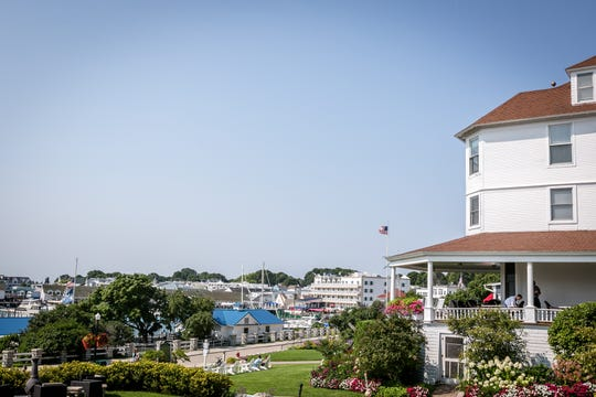 The Island House Hotel is the oldest hotel on Mackinac Island.