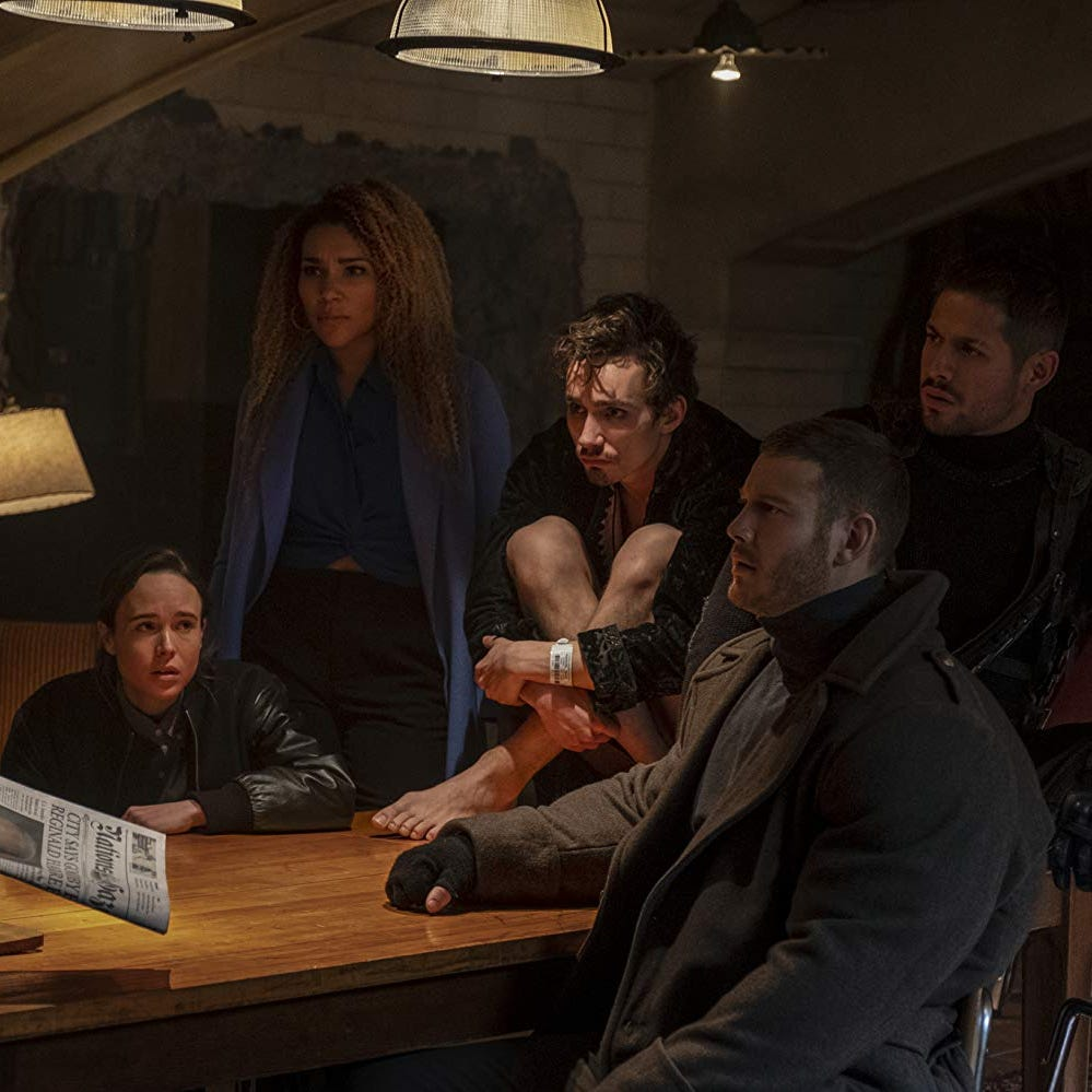 Review: Angsty superheroes reign in 'Umbrella Academy'