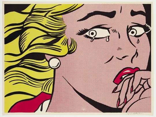 """Roy Lichtenstein's 1963 """"Crying Girl,"""" in """"From Camelot to Kent State"""" at the DIA through Aug. 25."""