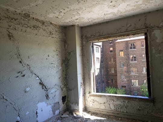 The Lee Plaza Apartments were opened Monday, May 15, 2017, during a news conference when the city of Detroit proposed to buy the building from the Detroit Housing Commission and transfer it to the Detroit Building Authority for redevelopment.