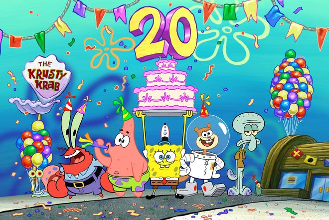 """Nickelodeon marks 20 years of SpongeBob SquarePants with the """"Best Year Ever"""""""