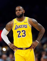LeBron James and the Los Angeles Lakers are in 10th place in the Western Conference.