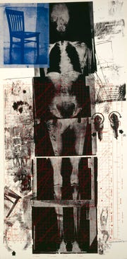 """Booster"" by Robert Rauschenberg features an X-ray of the artist's body."
