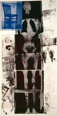 """""""Booster"""" by Robert Rauschenberg features an X-ray of the artist's body."""