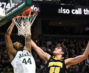 Jay Bilas of ESPN calls Nick Ward (44) and Michigan State a Final Four contender, along with Michigan, in his updated college basketball rankings.