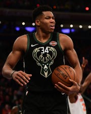 Giannis Antetokounmpo has the Milwaukee Bucks sitting atop the Eastern Conference with the NBA's best record at the All-Star break.