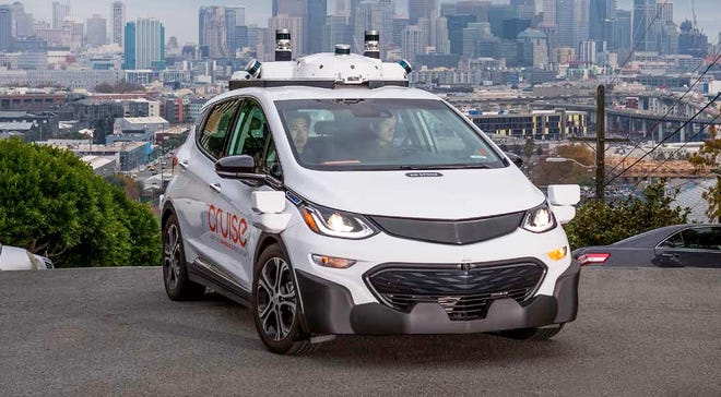 Testing of GM Cruise self-driving vehicles required human drivers to take over less frequently in 2018.