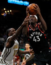 Pascal Siakam's 3-point percentage has improved 20 percentage points since his rookie season in 2016-17.