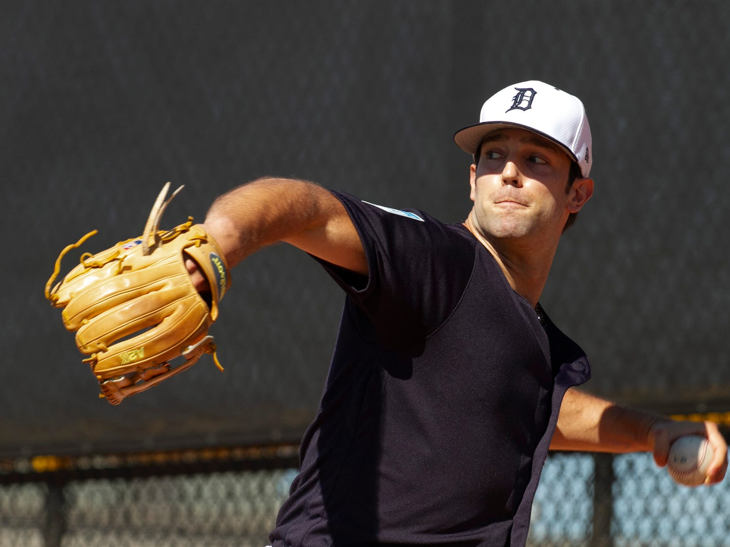 Detroit Tigers pitcher Daniel Norris throws a pitch.