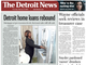 The front page of the Detroit News on Thursday February 14, 2019
