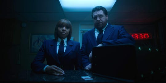 "Mary J. Blige and Cameron Britton in ""The Umbrella Academy."""