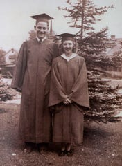 Howard and Connie at their high school graduation a year before Pearl Harbor was bombed.