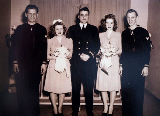 Just married Howard and Connie Norlin on Feb. 17, 1944.