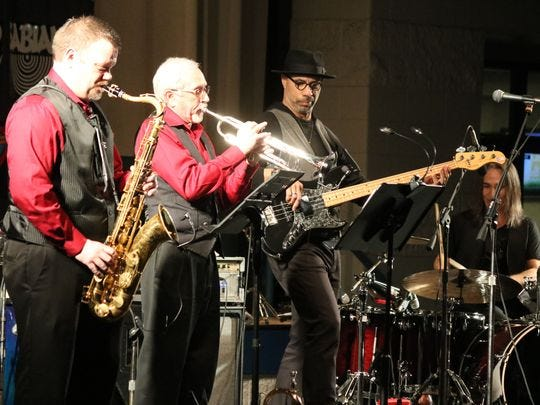 Latin Grammy award-winning Oskar Cartaya and the Ricannection perform with two special guests, Jeff Blanchard, an adjunct professor of brass studies at Terra State Community College, on trumpet, and John Calhoun, music teacher and band director at Fremont Ross, on saxophone.  The musicians performed together at Terra State's Midwest Rhythm Summit in 2018. The college is bringing the summit back for a second year.