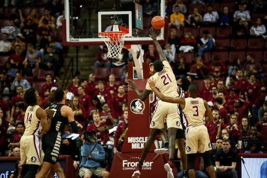 Florida State senior center Christ Koumadje has vitalized his distinct height advantage while averaging 5.5 rebounds per game this season.
