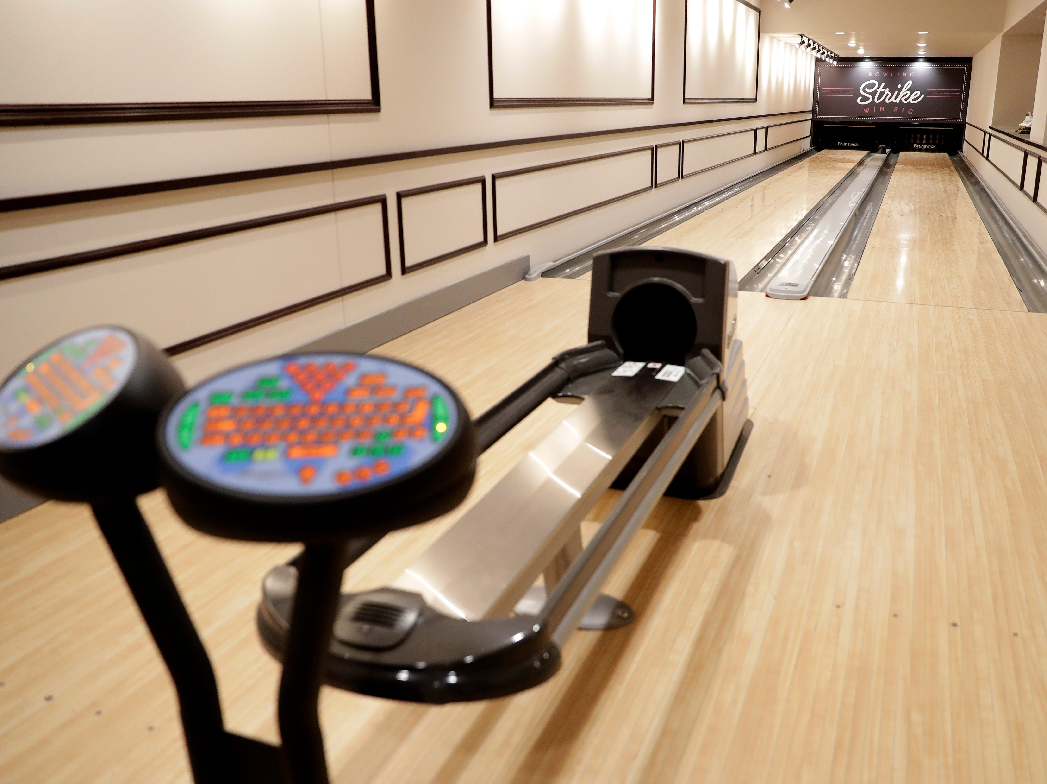 A two-lane bowling alley in the basement recreation area of the Hotel Northland will be available for the public to rent for events.