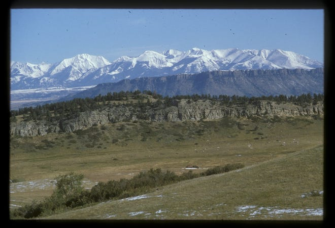 The Crazy Mountains as seen from Mission Creek Road.