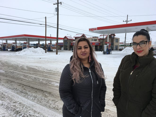 Mimi Hernandez, left, and Ana Suda, represented by the ACLU, are suing the U.S. Customs and Border Protection. They claim they were detained at a gas station in Havre for speaking Spanish.