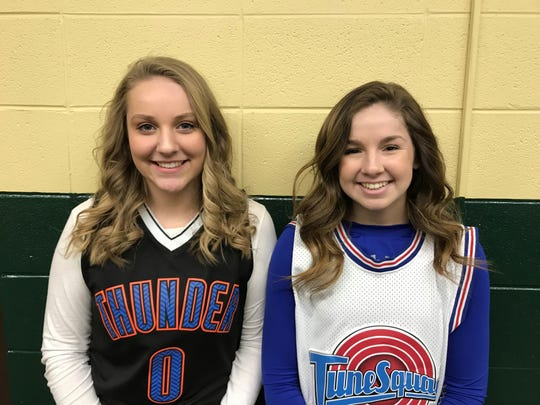 Emily Pahut, left, and Sydney Hill are senior standouts on a fine Great Falls Central Catholic girls' basketball team.