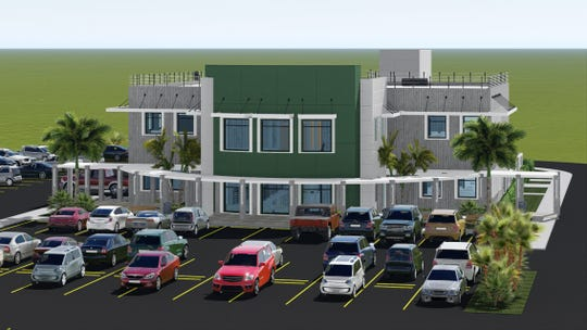 An artist's rendering of the new $5.4 million School of Engineering at the University of Guam. It is scheduled to open in February 2020.