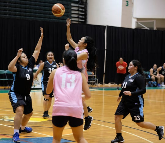 Guam Community College beat the Lady Tridents 61-49 Feb. 13 in a Trident Women's Basketball League game at the UOG Calvo Field House. UOG's women's basketball program announced tryouts for a varsity team that will start play in September.