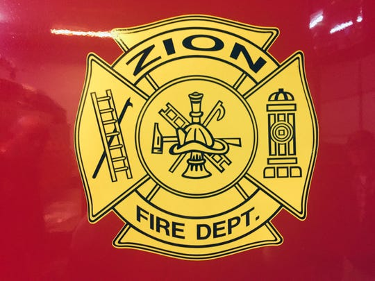 The department's logo on the Zion VFD's new tanker truck.