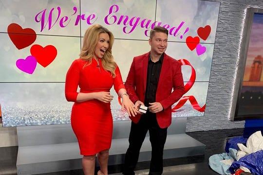 CBS4 reporter Rachel Bogle's boyfriend proposes to her on set.