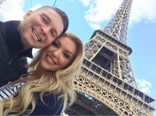 CBS4 reporter Rachel Bogle and her boyfriend in Paris.