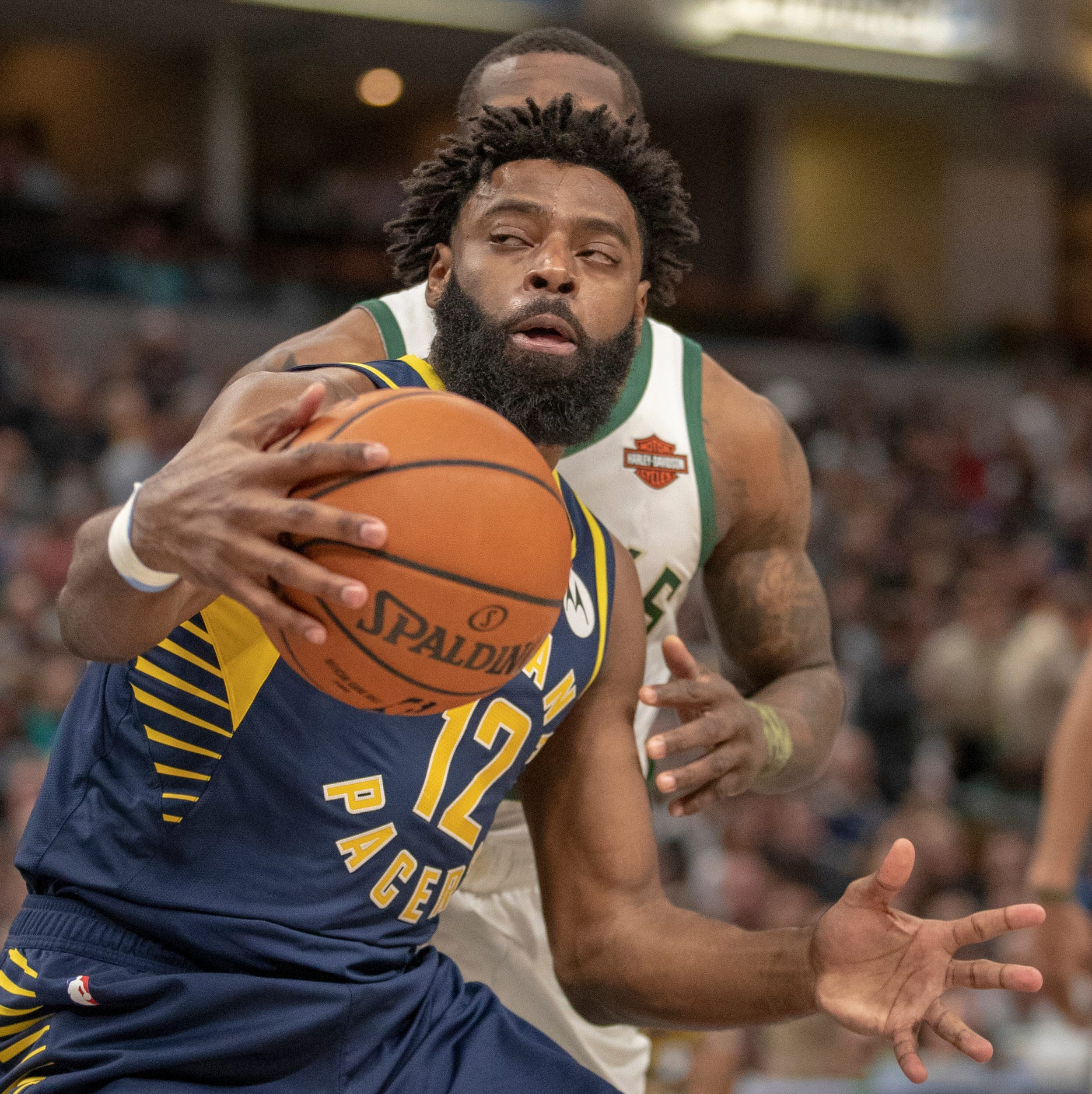 Pacers Tyreke Evans responds after knee injection during All-Star break
