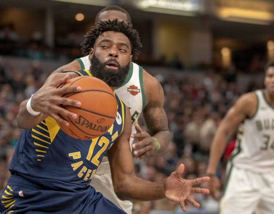 Tyreke Evans of the Indiana Pacers, during action against Milwaukee, Bankers Life Fieldhouse, Indianapolis, Wednesday, Feb. 13, 2019. Milwaukee won 106-97.