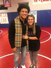 "Elijah Mahan and his girlfriend Madison Aldrich. ""He's good at everything he does,"" she said."
