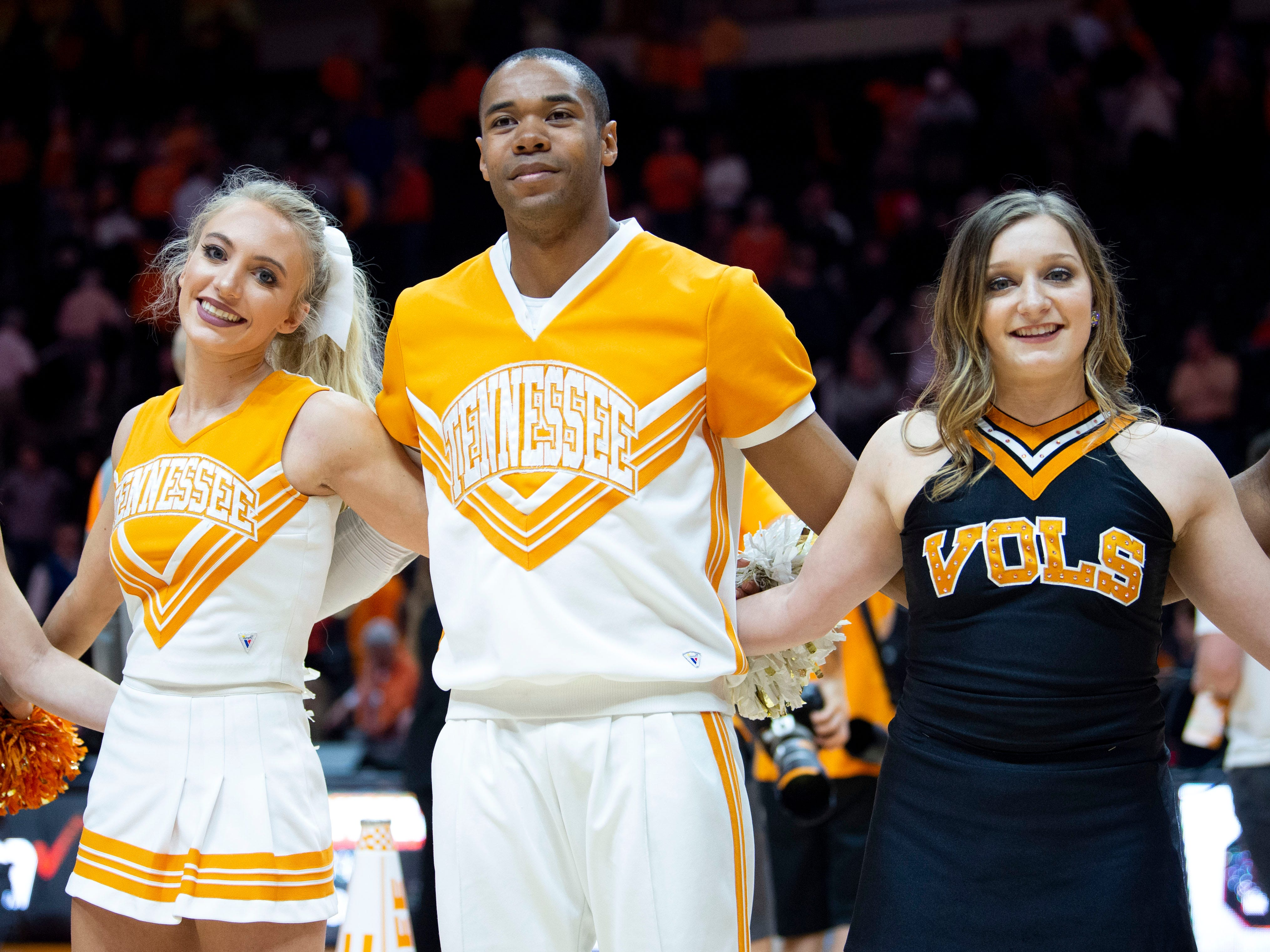 Tennessee cheer and dance entertain the sold-out crowd during the game against South Carolina on Wednesday, February 13, 2019.