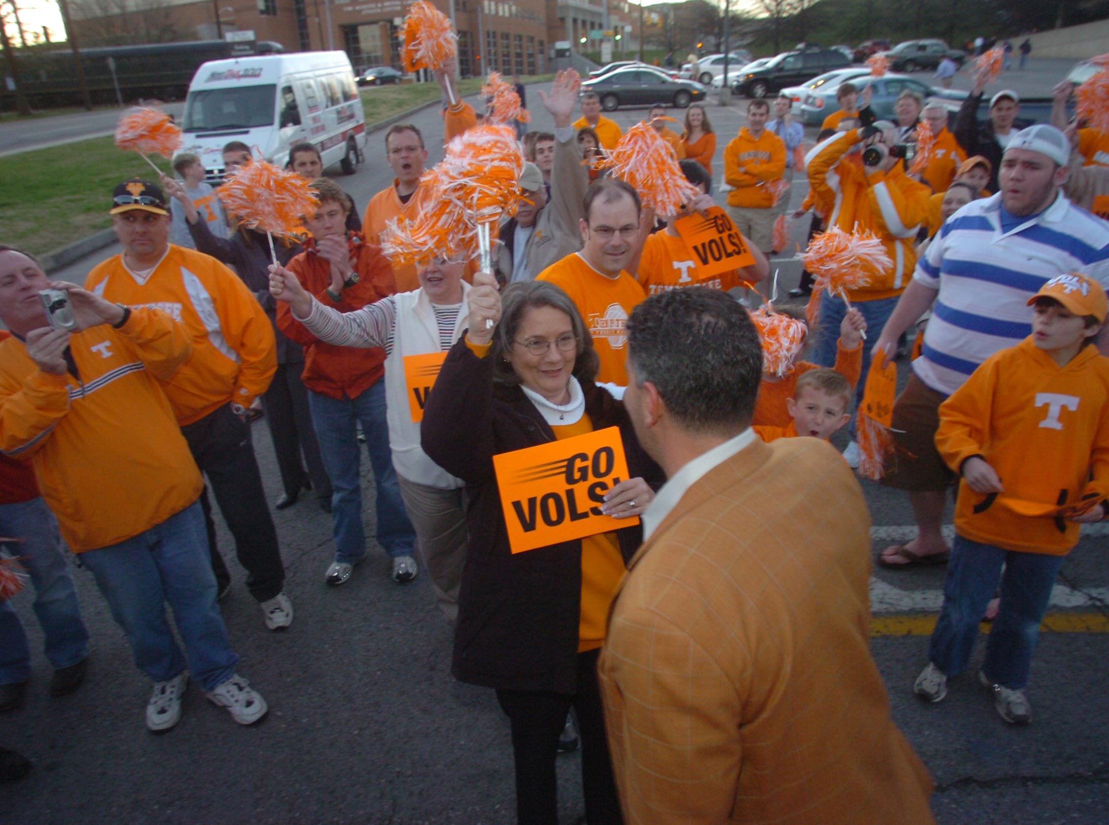 Coach Bruce Pearl and the Tennessee men's basketball team get a send off to the NCAA tournament Tuesday at Thompson-Boling Arena. The Vols will face Winthrop in a first-round game on Thursday in Greensboro, N.C.   3/14/2006
