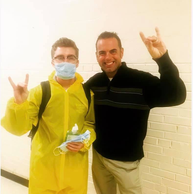 Hazmat suit for school? Knox County student decides he doesn't want the flu
