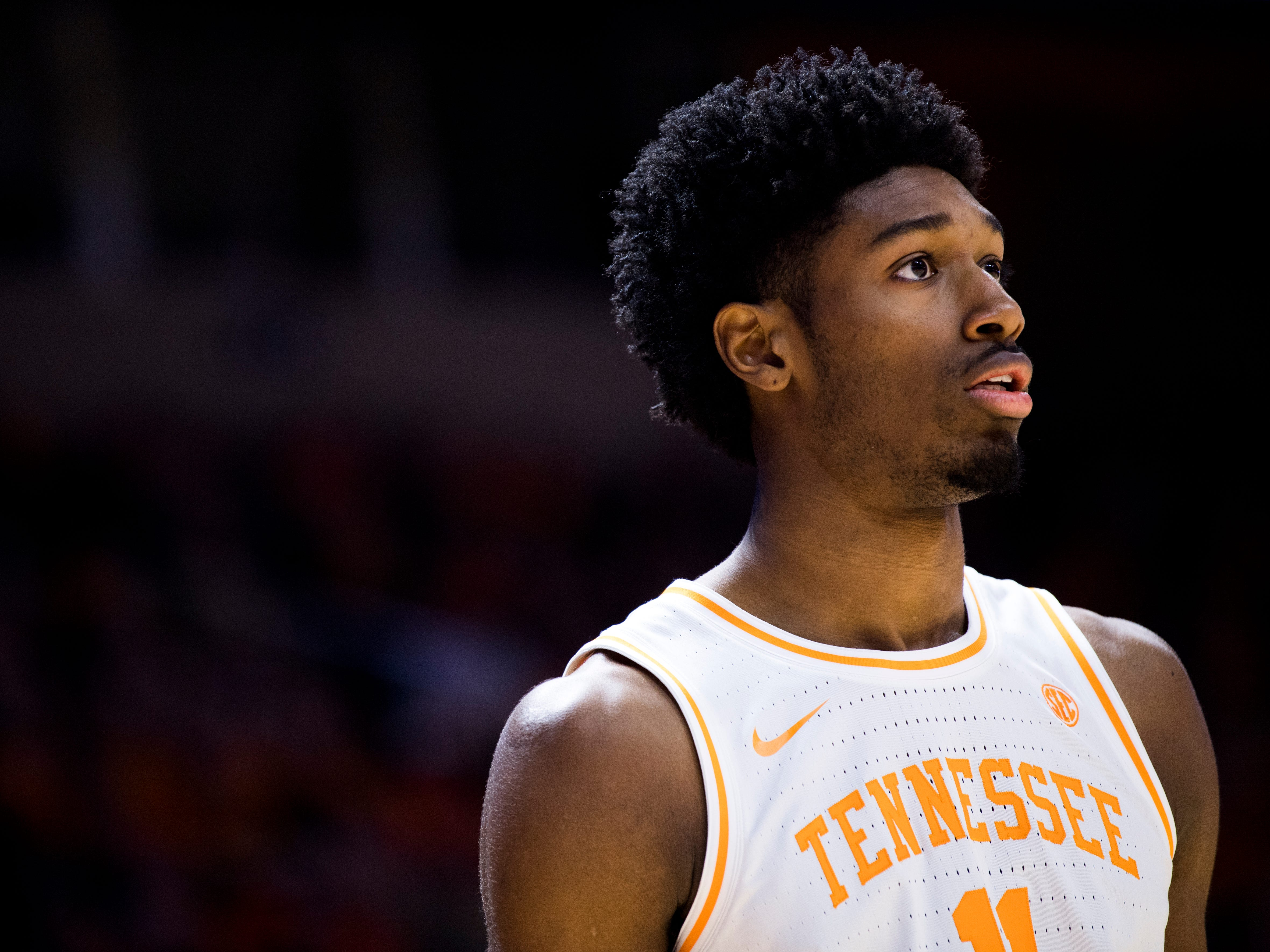 Tennessee forward Kyle Alexander (11) during Tennessee's home SEC game against South Carolina at Thompson-Boling Arena in Knoxville on Wednesday, February 13, 2019.