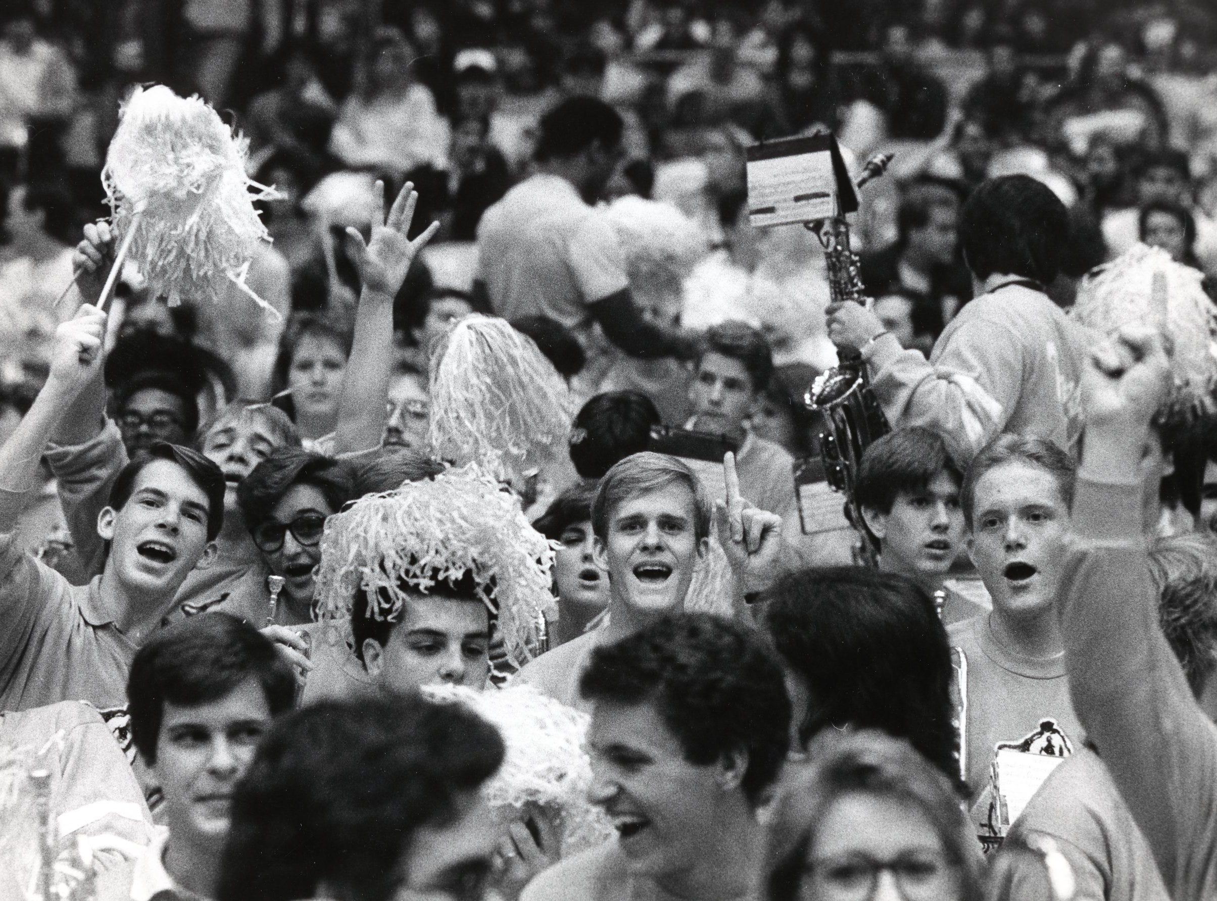 UT basketball fans in January 1987.