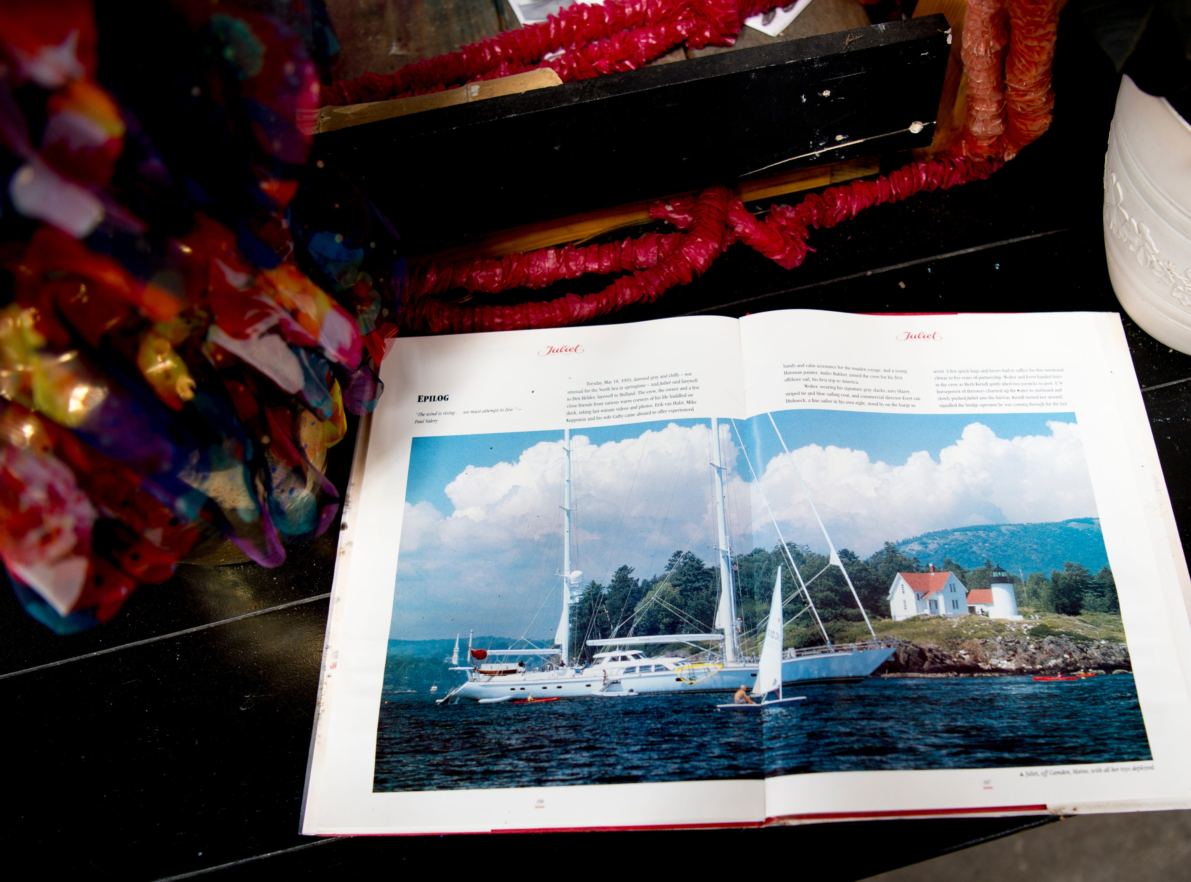 A sailing book is part of the deception at Bar Marley in Knoxville, Tennessee on Thursday, February 14, 2019. The Caribbean-themed Bar Marley is facing possible acquisition and condemnation by KCDC due to code violations.