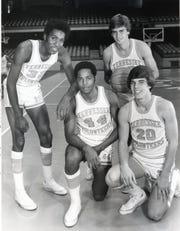 UT Vols (from left) Reggie Johnson, Chuck Threeths, Bert Bertelkamp and Mike Stapleton, 1976.