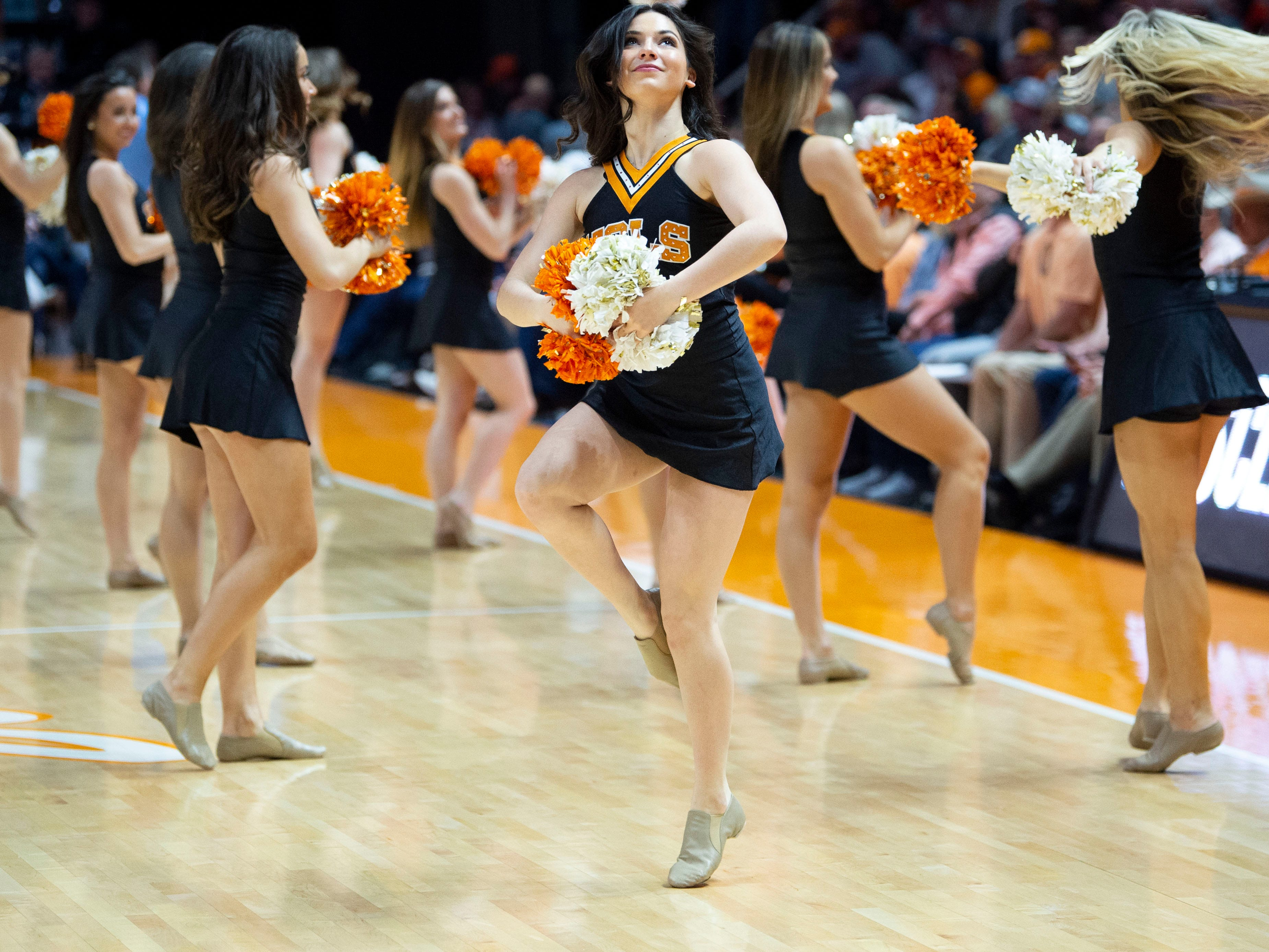 The Tennessee Dance Team entertains the crowd during the game against South Carolina on Wednesday, February 13, 2019.