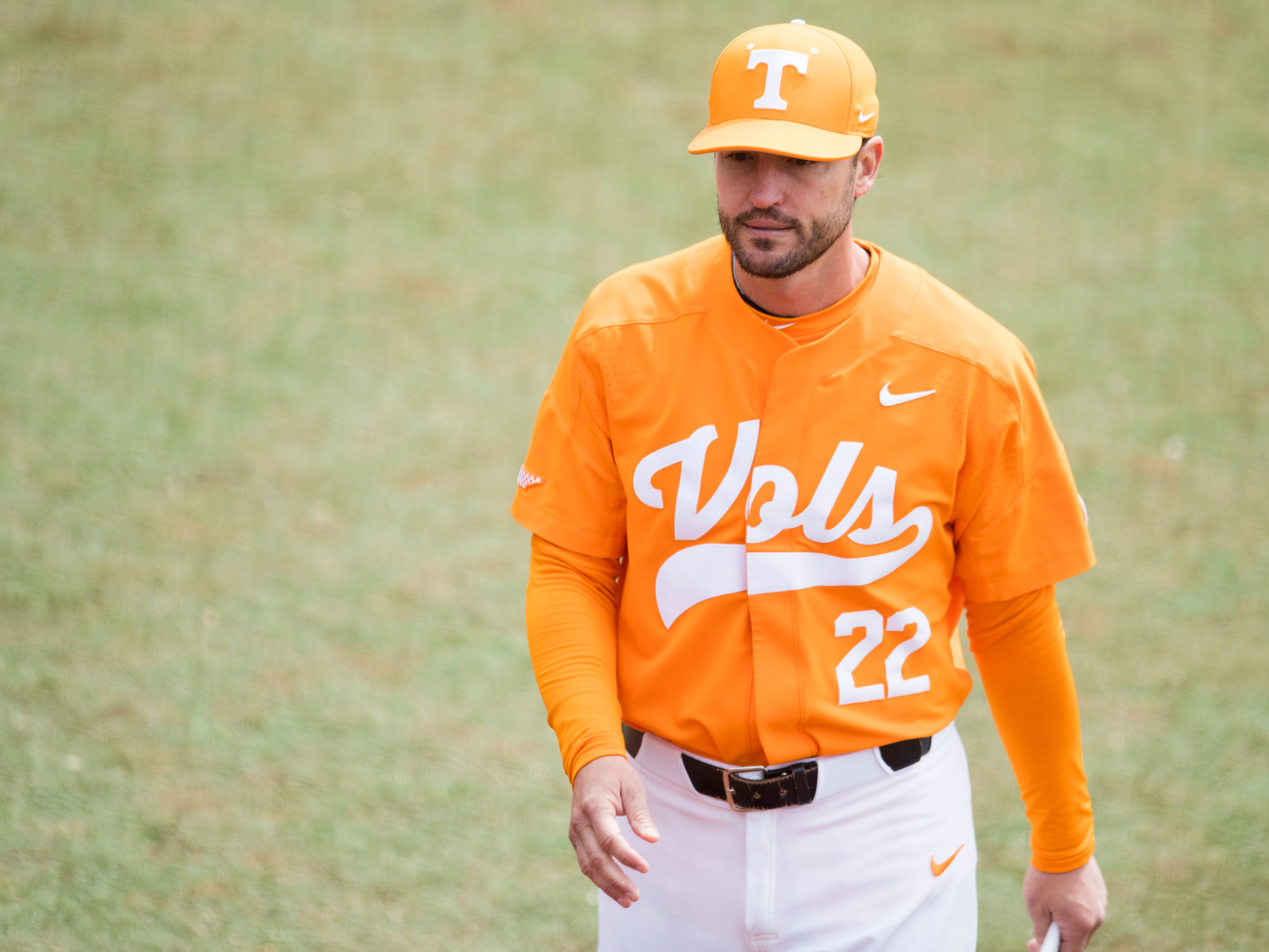 Tennessee baseball coach Tony Vitello before the start of the game against Florida at Lindsey Nelson Stadium on Sunday, April 8, 2018.