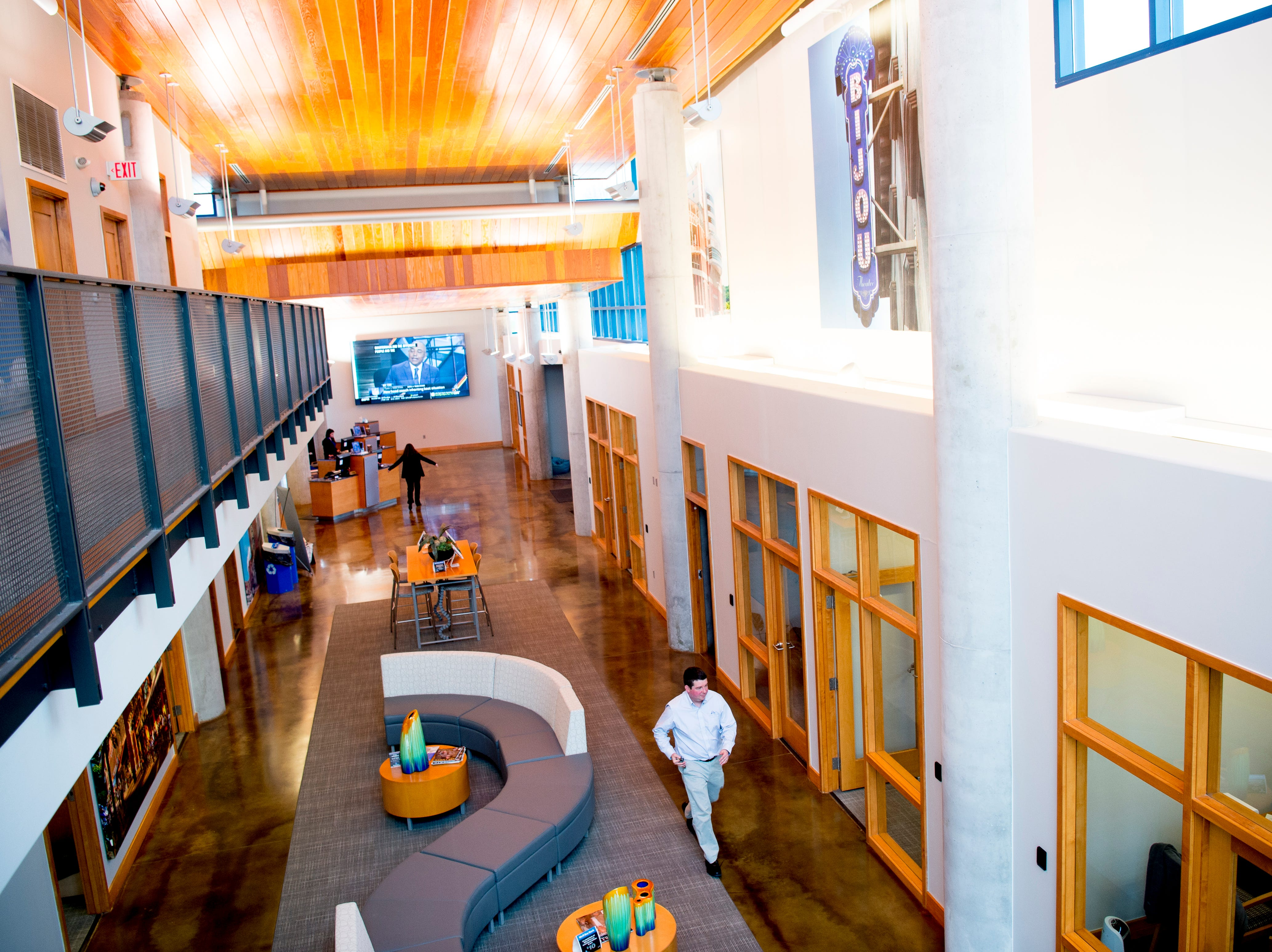 The interior of the Cedar Bluff SmartBank location in West Knoxville, Tennessee on Tuesday, February 12, 2019. Pigeon Forge-founded SmartBank has signed a definitive merger agreement with North Carolina-based Entegra Bank.