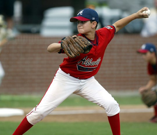 Gunner Leger pitches for Abbeville when he was a little guy in 2006.